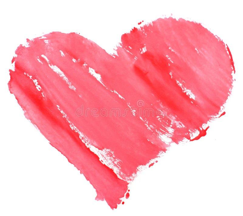 Pittura del cuore di amore acquerella fotografia stock