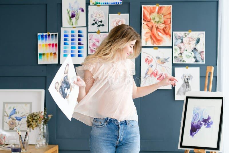 Pittura del disegno di espressione di ispirazione di arte immagini stock libere da diritti