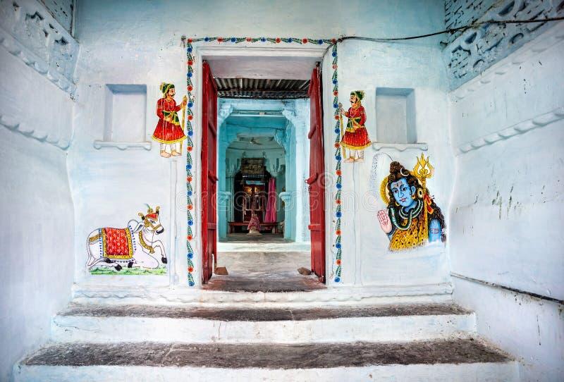 Pittura del Ragiastan in tempio indù immagini stock
