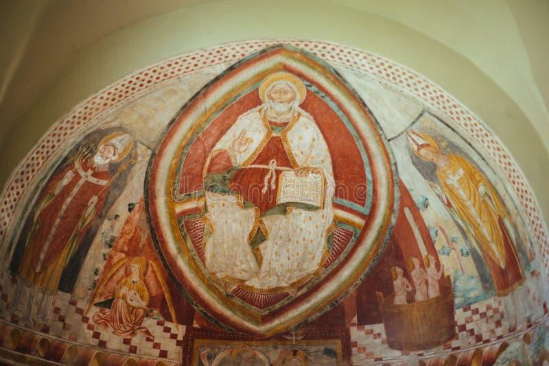 Pittura del signore Jesus Christ come buon pastore, chiesa Abb immagini stock libere da diritti