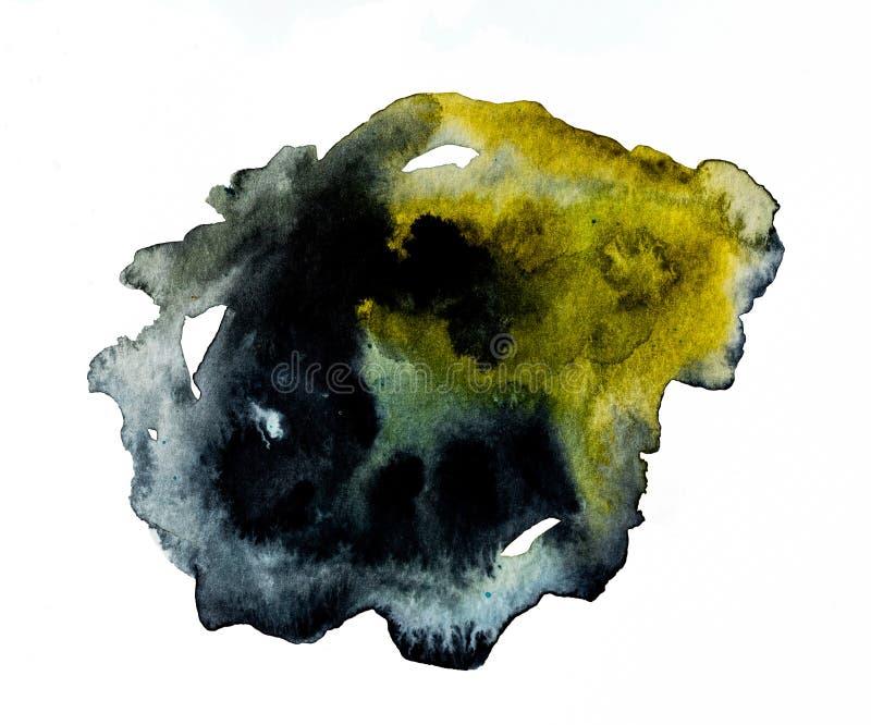 Pittura dell'acquerello in scuro ed in dorato illustrazione vettoriale