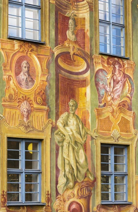 Pittura dell'affresco a Bamberga fotografia stock libera da diritti