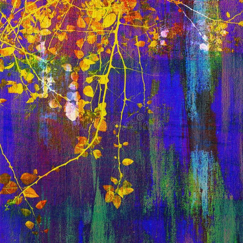 Pittura della cima d'albero immagine stock