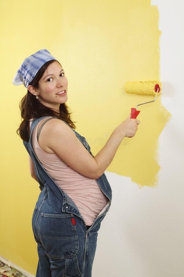 Pittura della donna incinta immagine stock