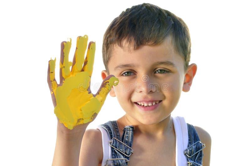 Pittura della mano fotografia stock libera da diritti