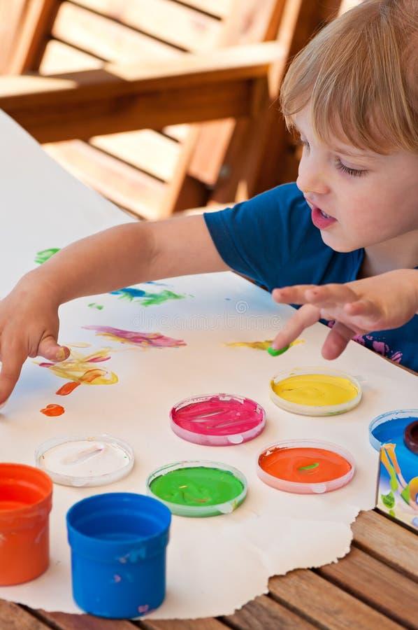 Pittura della mano immagini stock