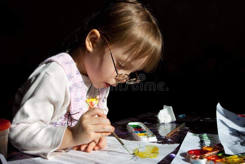 Pittura della ragazza immagine stock libera da diritti