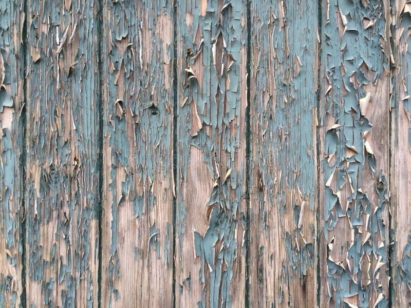 Pittura della sbucciatura su vecchio legname fotografie stock