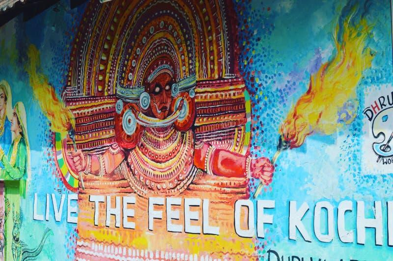 Pittura della via del Kerala fotografie stock