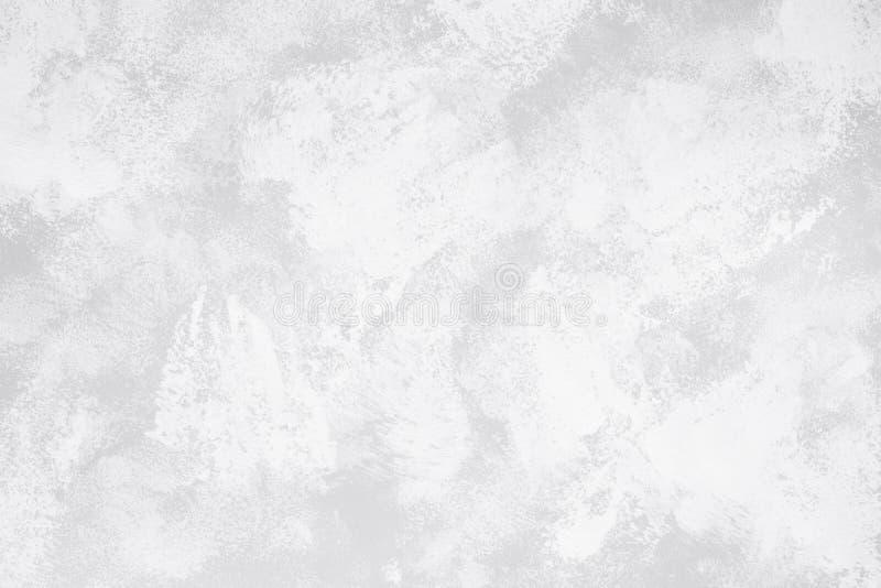 Pittura di astrattismo nel colore bianco e grigio per il fondo di struttura fotografia stock libera da diritti