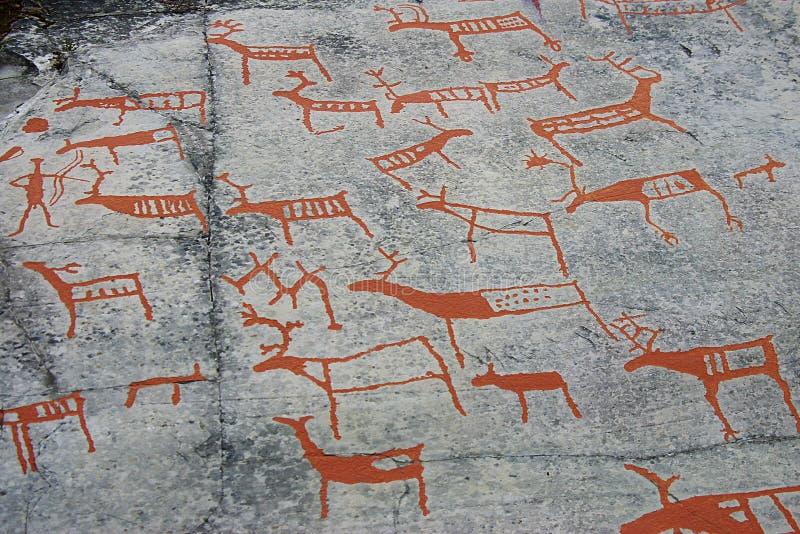 Pittura di caverna preistorica immagine stock libera da diritti