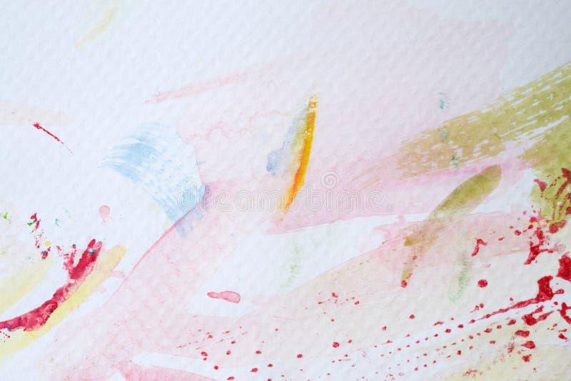 Pittura di colore di acqua sulla carta fotografia stock