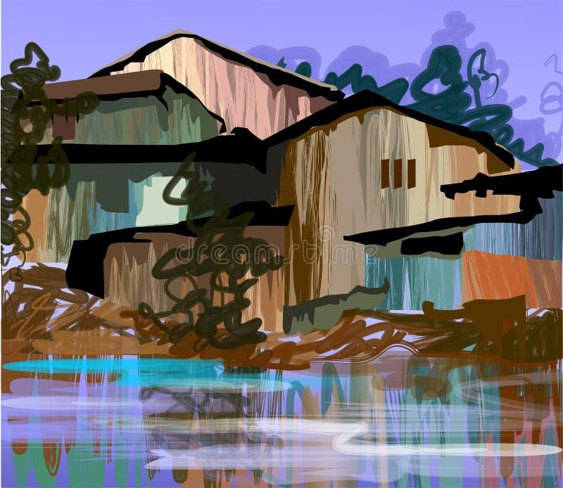 Pittura di Digitahi illustrazione di stock
