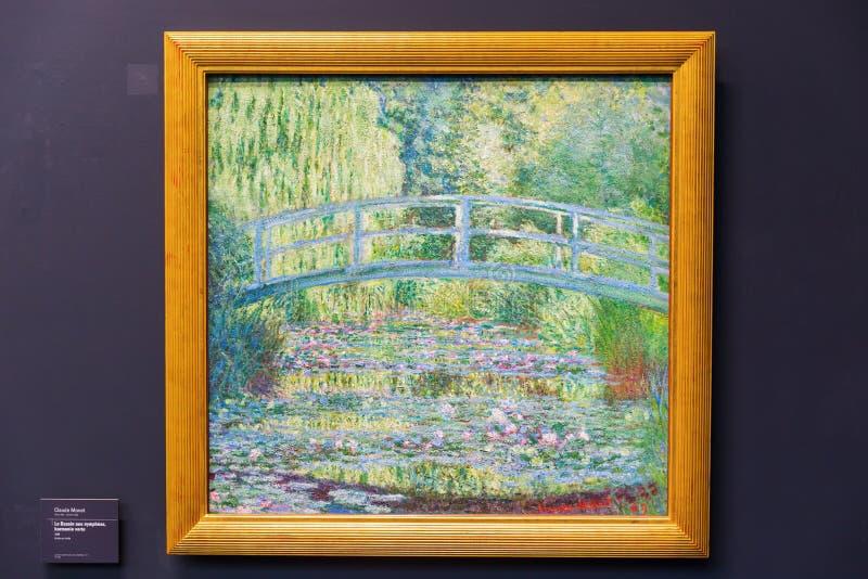 Pittura di Monet nel Musee dOrsay, Parigi fotografia stock libera da diritti