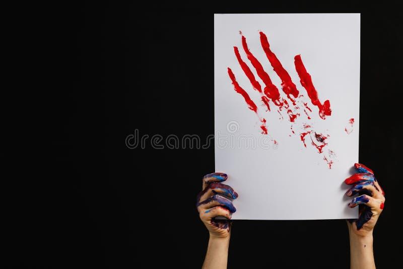 Pittura di mostra di arte di ispirazione di creativit fotografie stock libere da diritti