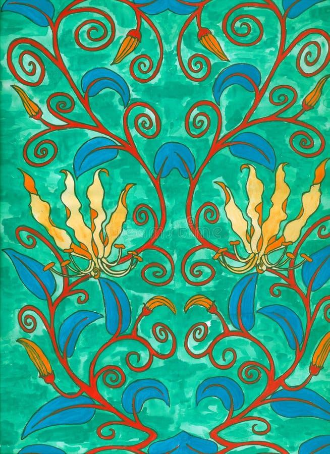 Pittura di nouveau di arte royalty illustrazione gratis