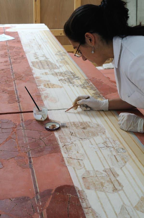 Pittura di parete romana - Spagna fotografie stock libere da diritti
