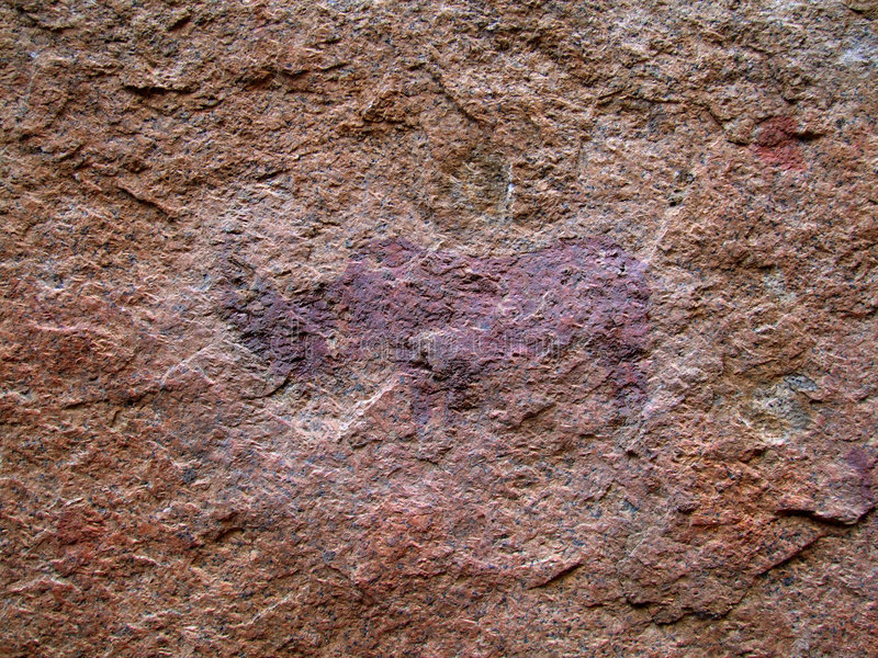 Pittura di Rino del boscimano fotografie stock libere da diritti