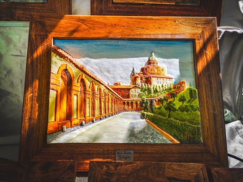 Pittura di San Luca Bologna - Italia fotografie stock libere da diritti