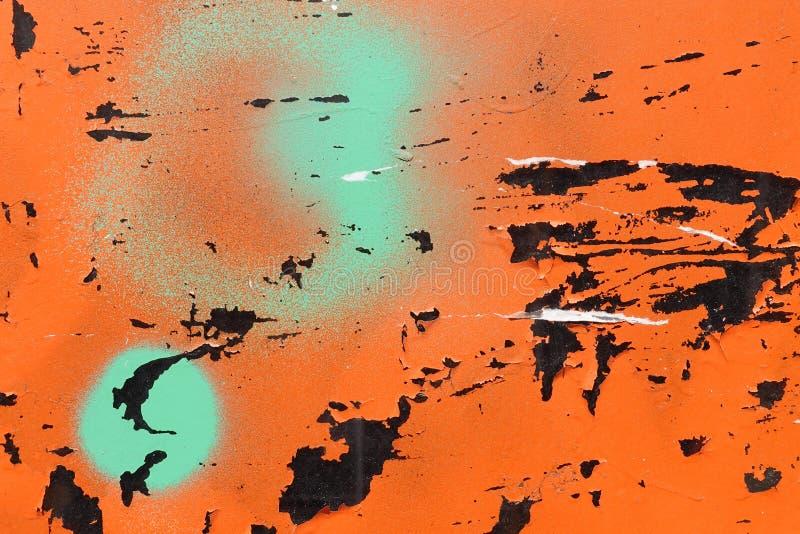 Pittura di spruzzo graffiata su fondo di vetro immagini stock libere da diritti