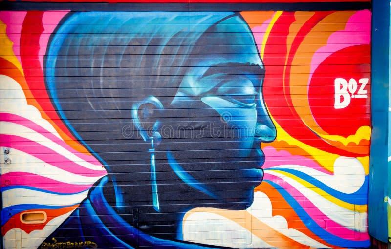 Pittura di Streetart a NDSM Amsterdam del nord fotografie stock libere da diritti