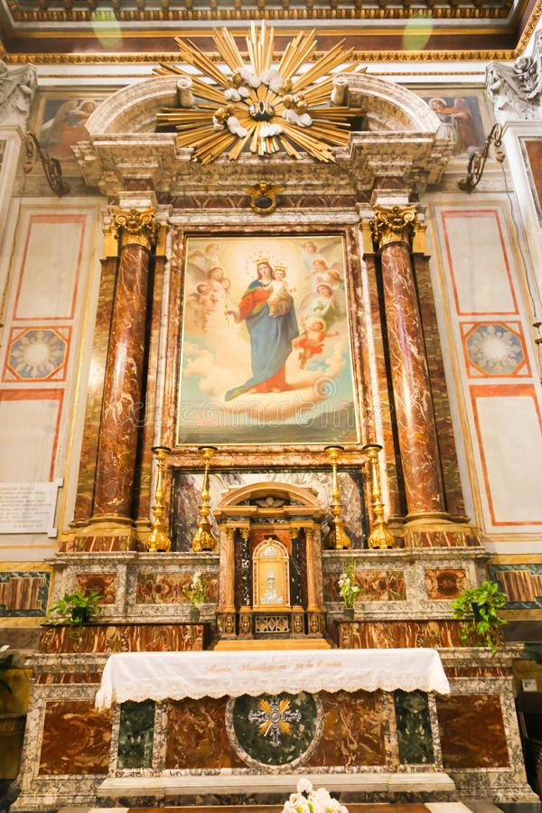 Pittura di vergine Maria dentro la basilica del san Mary Major fotografie stock