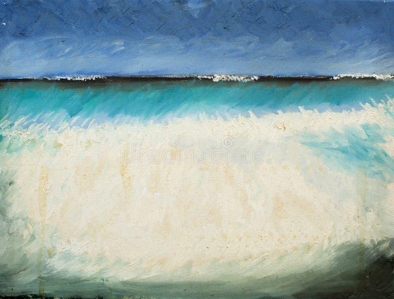 Pittura di vista sul mare illustrazione vettoriale