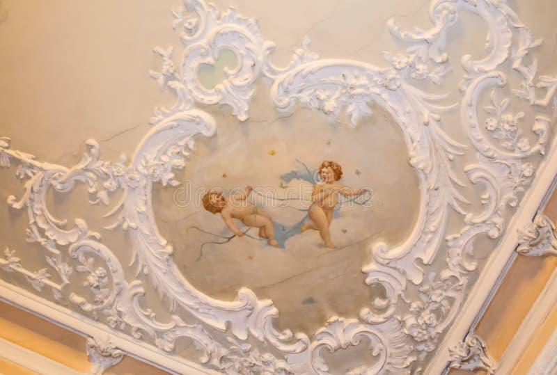 Pittura e stucco immagine stock