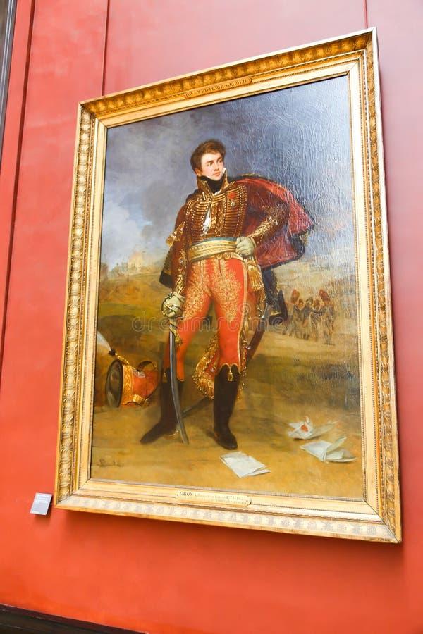 Pittura famosa antica nel museo del Louvre immagini stock libere da diritti