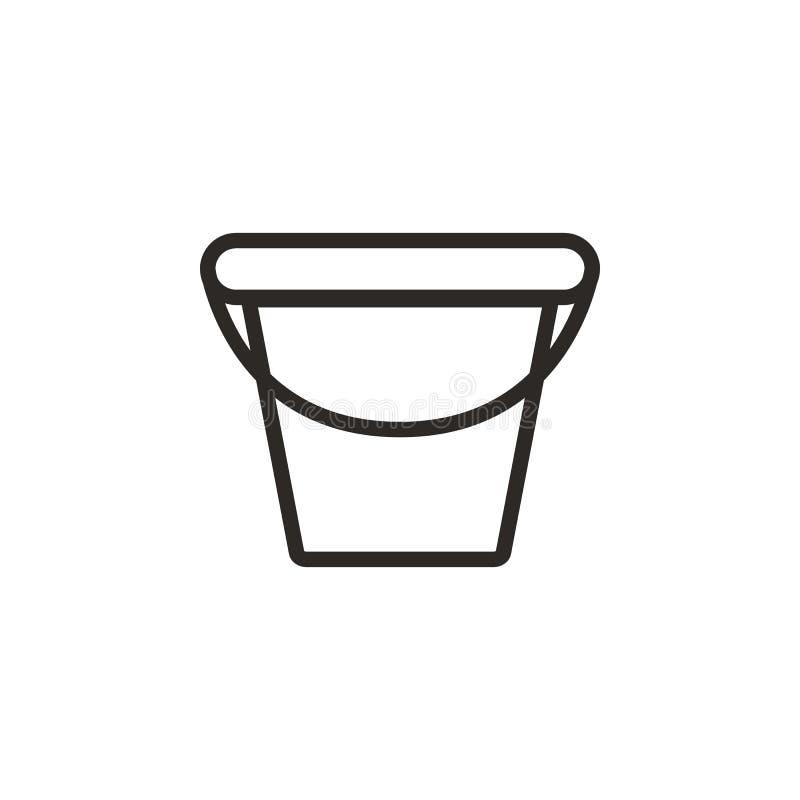 Pittura, icona di vettore del vaso Elemento dello strumento di progettazione per il concetto ed il vettore mobili dei apps di web illustrazione vettoriale