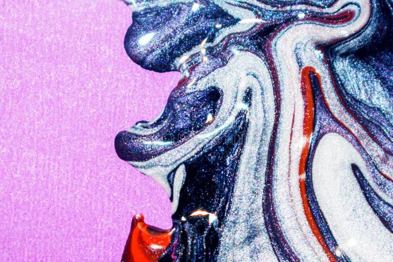 Pittura, inchiostro, estratto di olio ed arte dello smalto, arte creativa fotografie stock libere da diritti