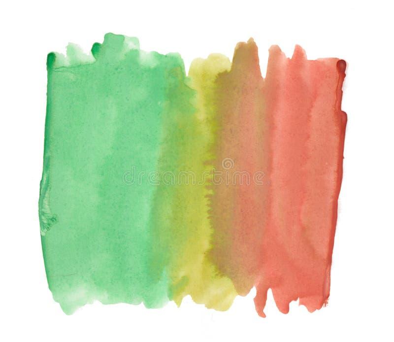 Pittura multicolore della spruzzata dell'acquerello del aquarell di struttura della spazzola del fondo astratto dell'inchiostro s royalty illustrazione gratis