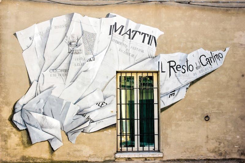 Pittura murala in Saludecio fotografia stock