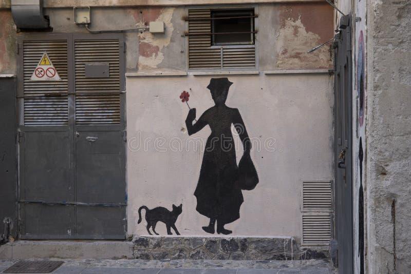 Pittura murale di Mary Poppins fotografia stock libera da diritti