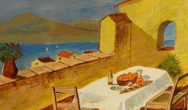 Pittura a olio illustrazione di stock