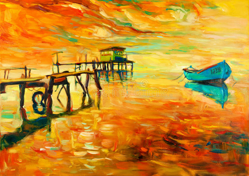 Pittura a olio illustrazione vettoriale