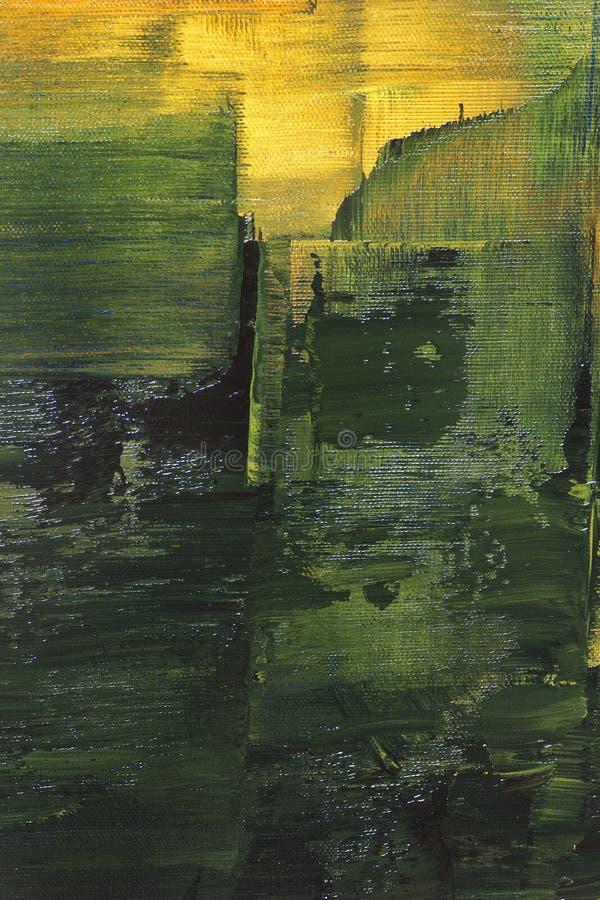 Pittura a olio astratta, dettaglio illustrazione vettoriale