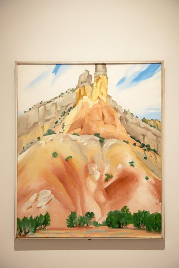 Pittura a olio occidentale di Keeffe del ` di Georgia O immagine stock