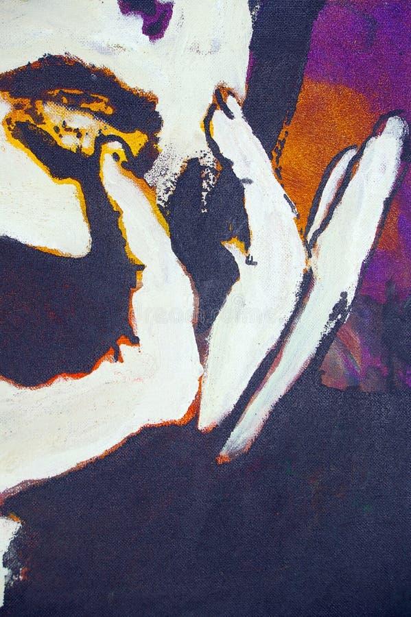 Pittura a olio originale royalty illustrazione gratis