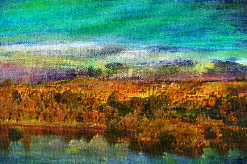 Pittura a olio originale di aswan immagine stock libera da diritti