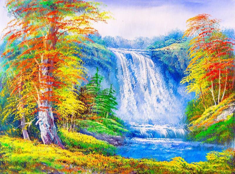 Pittura a olio - paesaggio royalty illustrazione gratis