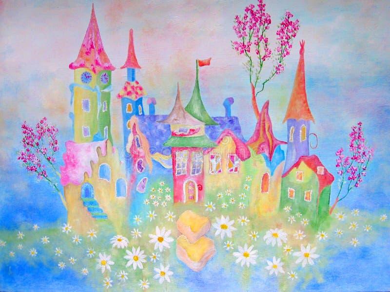 Pittura per la stanza dei bambini illustrazione di stock