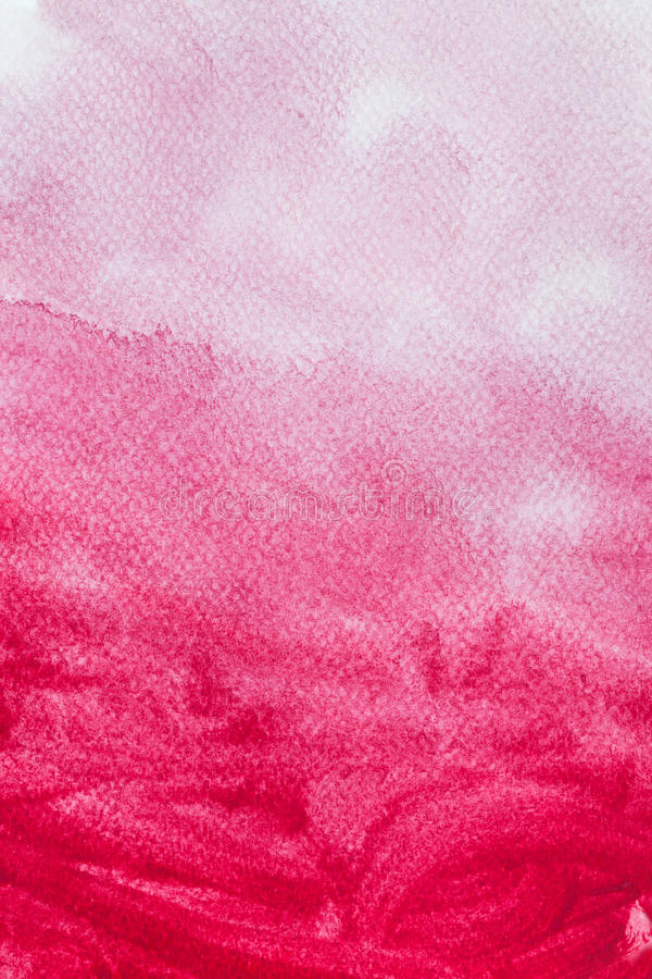 Pittura rossa dell'acquerello su tela Priorità bassa di arte astratta royalty illustrazione gratis