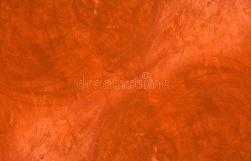 Pittura rossa su conrete o su intonaco, struttura fotografie stock libere da diritti