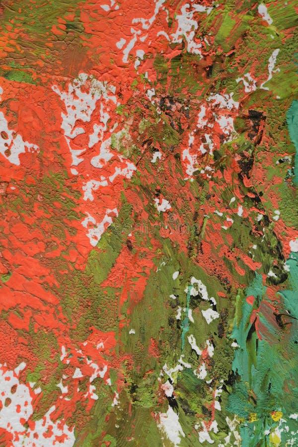 Pittura spalmata su carta immagini stock