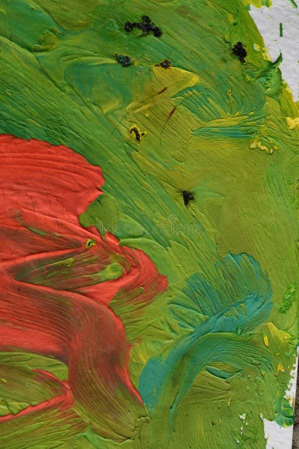 Pittura spalmata su carta fotografia stock