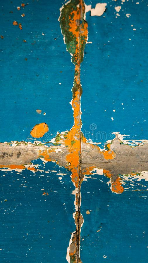 Pittura strappata su ferro come estratto, fondo di progettazione fotografia stock libera da diritti