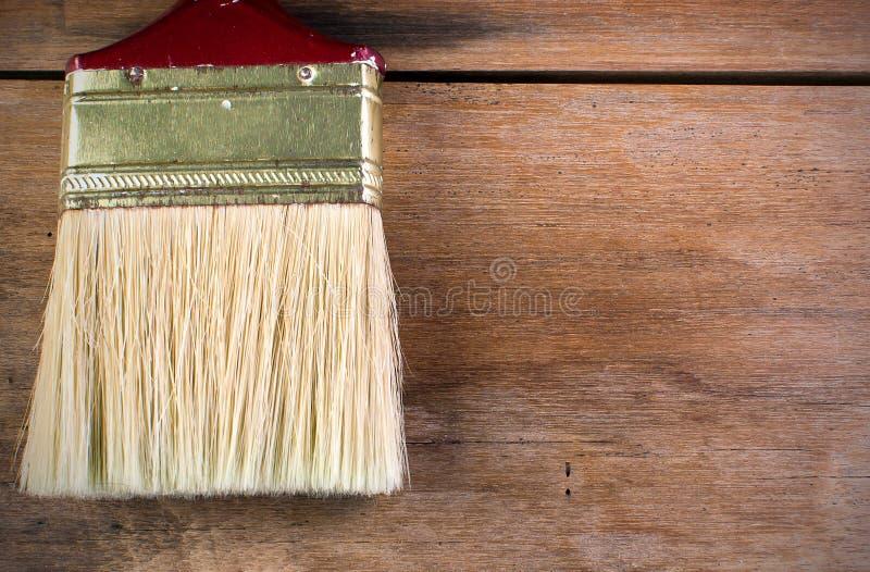 Pittura sui pavimenti di legno fotografie stock libere da diritti
