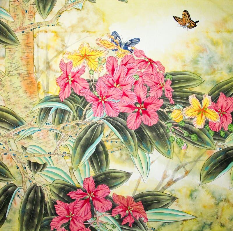 Pittura tradizionale cinese illustrazione di stock