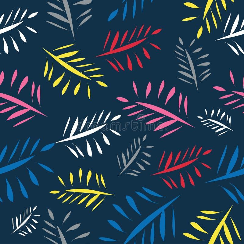 Pittura variopinta del fondo luminoso delle foglie illustrazione di stock